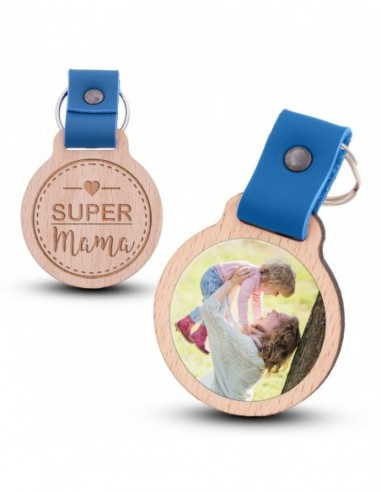 Fotoschlüsselanhänger / Super Mama