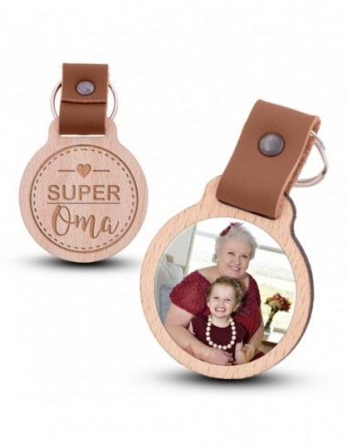 Fotoschlüsselanhänger / Super Oma