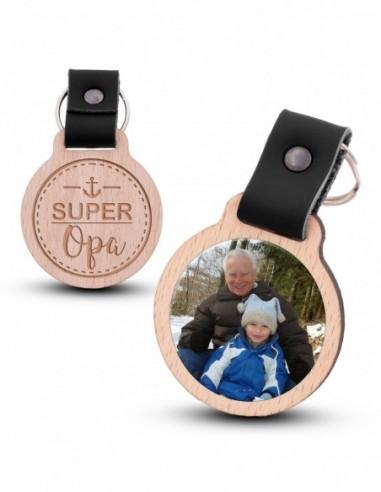 Fotoschlüsselanhänger / Super Opa