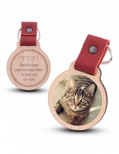 Fotoschlüsselanhänger / Katze