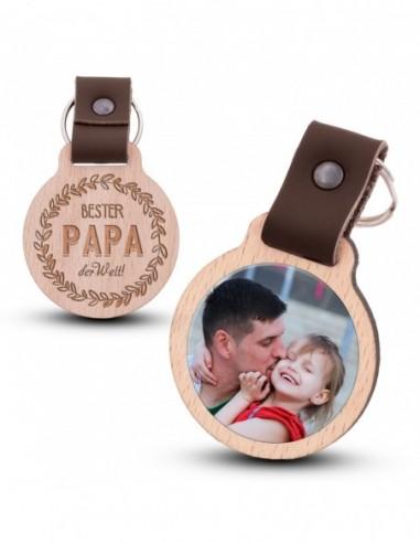 Fotoschlüsselanhänger / Bester Papa...