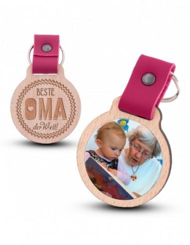 Fotoschlüsselanhänger / Beste Oma der...