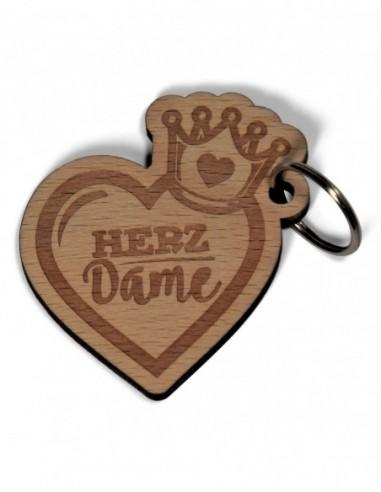"""Schlüsselanhänger """"Herzdame Krone"""""""