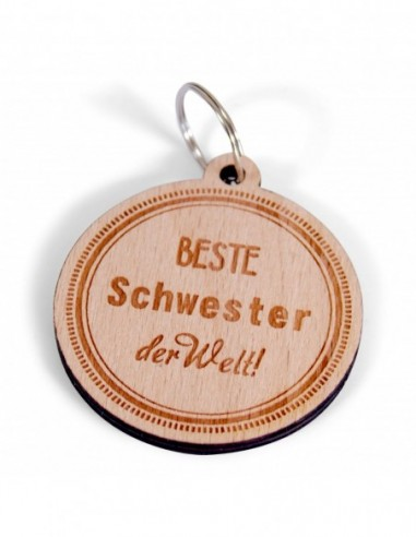"""Schlüsselanhänger """"Beste Schwester"""""""